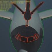 Il profilo del velivolo ricevente, identificato dal sistema di connessione automatica.