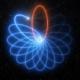 Una rappresentazione grafica delle orbite di una stella attorno ad un buco nero
