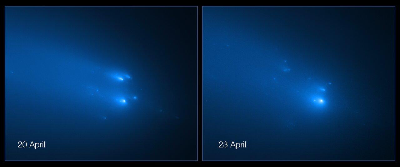 I frammenti della cometa ATLAS