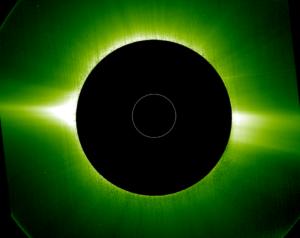 La corona del Sole alla luce visibile