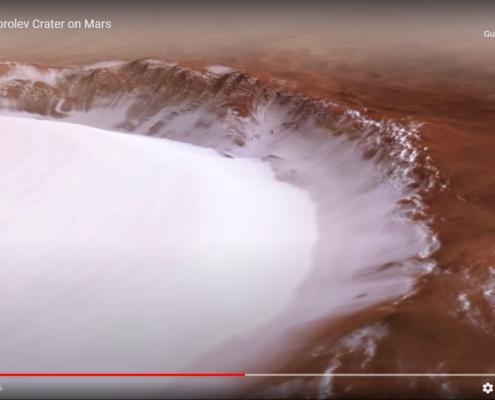 Il cratere Korolev su Marte